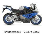 racing motorcycle   Shutterstock . vector #733752352
