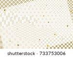 japanese traditional pattern... | Shutterstock .eps vector #733753006