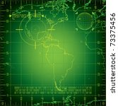 radar north and south america | Shutterstock .eps vector #73375456