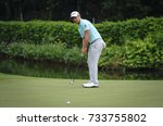 Small photo of KUALA LUMPUR, MALAYSIA - OCTOBER 13, 2017 : Xander Schauffele of the United States in action during 2017 CIMB Classic at TPC Kuala Lumpur
