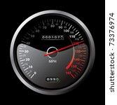 black speedometer | Shutterstock .eps vector #73376974