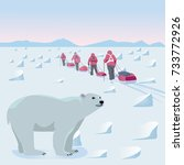 expedition in the arctic   Shutterstock .eps vector #733772926