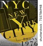 newyork fashion tee typography... | Shutterstock .eps vector #733786948