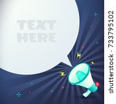 megaphone text bubble with... | Shutterstock .eps vector #733795102