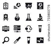 16 vector icon set   report ... | Shutterstock .eps vector #733803778