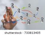 group network   Shutterstock . vector #733813405