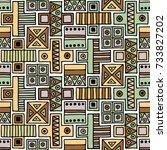 seamless pattern. geometrical...   Shutterstock . vector #733827202