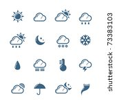 weather icons   Shutterstock .eps vector #73383103