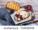homemade leftover thanksgiving... | Shutterstock . vector #733838908