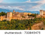 granada. the fortress and... | Shutterstock . vector #733845475