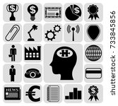 set of 22 business icons ... | Shutterstock .eps vector #733845856