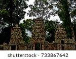 angkor wat  cambodia | Shutterstock . vector #733867642