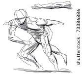 sketchy illustration of a human ...   Shutterstock .eps vector #73386886