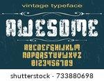font handcrafted vector...   Shutterstock .eps vector #733880698