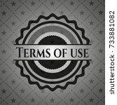 terms of use dark emblem. retro