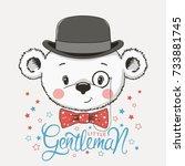 little gentleman. cute baby...   Shutterstock .eps vector #733881745