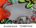 Climbing Equipment Laid Out On...