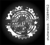 between love and hate on grey... | Shutterstock .eps vector #733894912