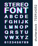 font with stereoscopic effect.... | Shutterstock .eps vector #733914352