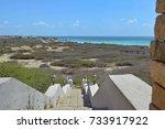 landscape of aruba   Shutterstock . vector #733917922
