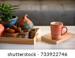autumn mood at home. living... | Shutterstock . vector #733922746