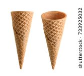 collection of empty ice cream... | Shutterstock . vector #733925032