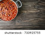 Saucepan With Delicious Chili...