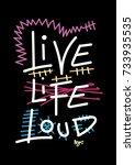 New York Live Life Loud T Shir...