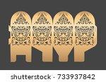 wedding favor box. candy box... | Shutterstock .eps vector #733937842