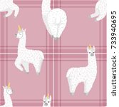 seamless pattern with cute...   Shutterstock .eps vector #733940695
