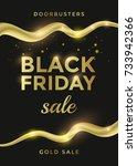 black friday sale poster or... | Shutterstock .eps vector #733942366