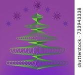 christmas tree on background of ...   Shutterstock .eps vector #733943338