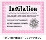 pink formal invitation template....   Shutterstock .eps vector #733944502