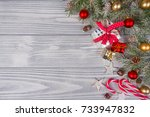 christmas background with...   Shutterstock . vector #733947832