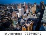 massive city metropolis aerial... | Shutterstock . vector #733948342