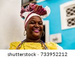 brazilian woman of african... | Shutterstock . vector #733952212