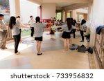 chiang rai  thailand 2 14  2017 ... | Shutterstock . vector #733956832