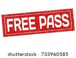 free pass grunge rubber stamp... | Shutterstock .eps vector #733960585