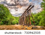 athens  georgia  usa abandoned... | Shutterstock . vector #733962535