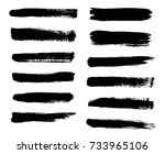 isolated vector set of brush... | Shutterstock .eps vector #733965106