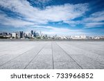 empty marble floor and... | Shutterstock . vector #733966852