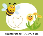 A Happy Bee Confesses In Love ...