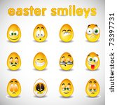 vector easter smileys | Shutterstock .eps vector #73397731