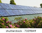 solar panels with landscaping... | Shutterstock . vector #7339849