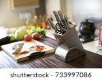 kitchen knife | Shutterstock . vector #733997086