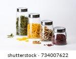 sealed jar | Shutterstock . vector #734007622