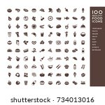 100 healthy food icons for...