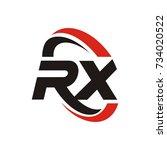 rx logo initial letter design... | Shutterstock .eps vector #734020522