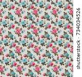 flower deformation  the leaves... | Shutterstock . vector #734034526
