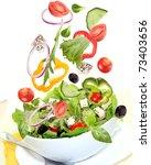 Falling Fresh Vegetable